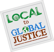 Local to Global Justice logo tilt