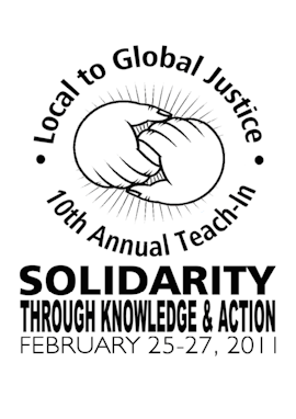 2011 Local to Global Justice Teach-in program cover