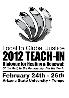 2012 Local to Global Justice Teach-in program cover