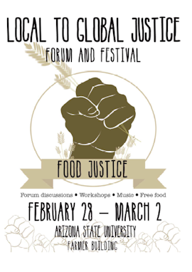 2014 Local to Global Justice Forum and Festival program cover